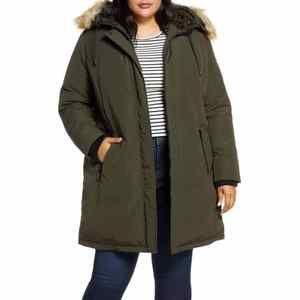 Sam Edelman Faux Fur Trim Down Parka Jacket 2X